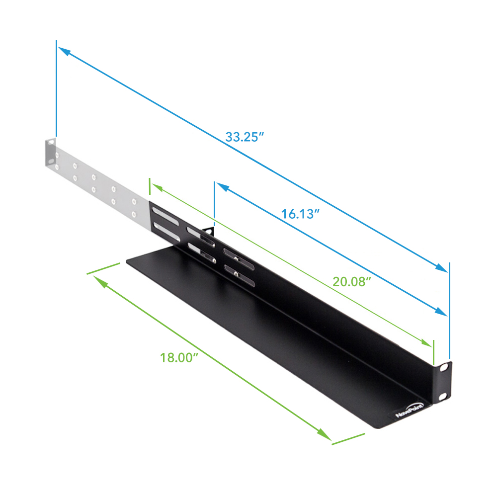 Adjustable Rack Mount Server Shelf Shelves Rail Rails 1U ...