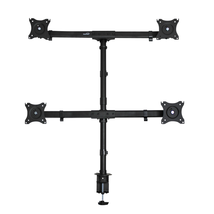 Quad LCD 4 Monitor Stand c-clamp Desk Mount Heavy Duty Adjus
